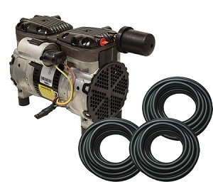 EasyPro 1/2 HP Rocking Piston Aeration System Aerates up to 50 feet deep