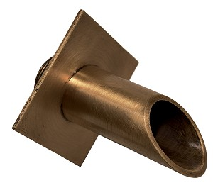"EasyPro Vianti Falls Brass 2"" Round Scupper with Diamond Wall Plate BWS2D"