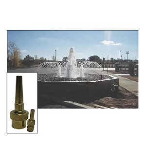 "EasyPro 3/4"" Inlet Bronze Smooth Jet Fountain Nozzle SJN75 SJN Series"