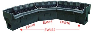 "EasyPro Pro Series 16"" Inward Curving Waterfall Spillway Extension"
