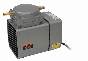 Gast 1/8 HP Small Continuous Duty Diaphragm Air Compressor