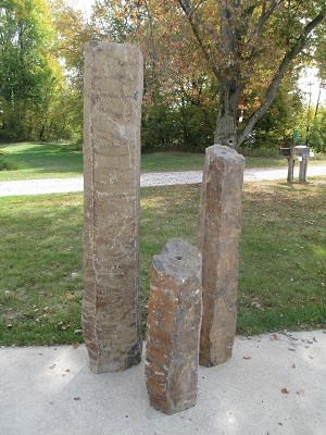 Three Piece Real Large Basalt Column Fountains