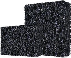 Matala Filtration Media Mat Half Sheet Black Material Very Coarse Weave