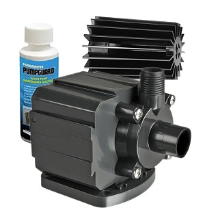 Pondmaster 3 Magnetic Drive Pond Fountain Pump 350 GPH - Includes FREE 4oz PumpGuard Cleaner