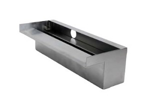 "ProEco 60"" Stainless Steel Waterfall Weir 5000 GPH"