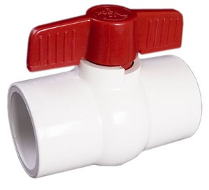 "3"" Inch PVC Ball Valves Allow Flow Rate"