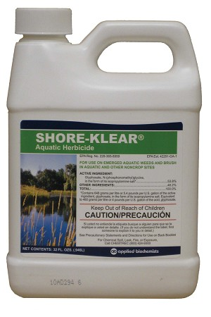 Shore Klear 1-quart Emergent Weed Control  Works on land and water plants - EPA Registered