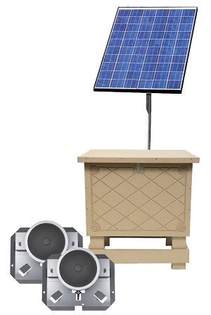Solar Pond Aeration Kits Aerates up to 2 Acre Pond with Battery Backup